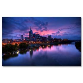 Αφίσα (Nashville, ηλιοβασίλεμα, φώτα, ουρανός, θάλασσα)